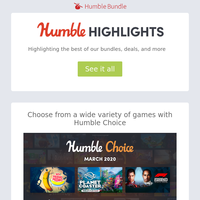 This week at Humble: My Friend Pedro is featured in Humble Choice as well as Planet Coaster, F1 2019, and more!