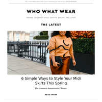 6 simple ways to style your midi skirts this spring