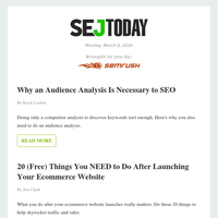 SEJ Today: Why an Audience Analysis Is Necessary to SEO