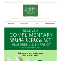 Restore & Renew Winter Skin | Free Spring Refresh Set