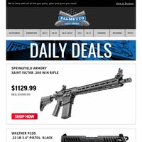 Walther PPQ .22LR Pistol $249.99 | Springfield Range Officer Elite 1911 45 ACP Pistol $699.99