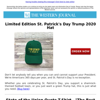 Limited Edition St. Patrick's Day Trump 2020 Hat