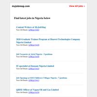 Airtel, Huawei, Google, Julius Berger, British Council, SOS Children's Villages, Pfizer, NERI Recruiting