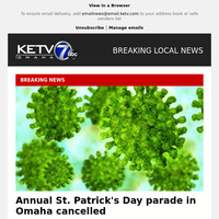 Annual St. Patrick's Day parade in Omaha cancelled