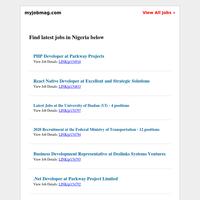Federal Ministry of Transportation, Nigerian Navy, Bolt, Konga, Egbin Power, CARE International Recruiting