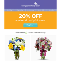 20% Off Special Occasion Blooms