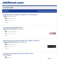 Settlements Officer - Prestige Oil Trading House (Work life balance) + 19 new jobs - Job Alert from JobStreet.com
