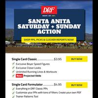 Play Santa Anita Saturday & Sunday Races with DRF