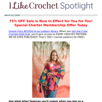 It's Confirmed! You're Getting 2 FREE Crochet Videos + 75% OFF