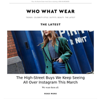 The high-street buys we keep seeing all over Instagram