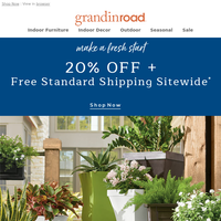 Save 20% + Free Shipping SITEWIDE (plant a new idea)