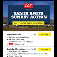 Santa Anita Sunday Action: PPs, Picks & Clocker Reports