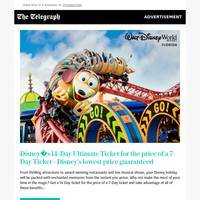 Order your Walt Disney World tickets now and get 14-Days for the price of seven!