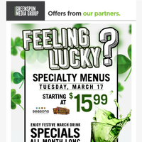 Enjoy St. Patrick's Day Specials at Silverton Casino