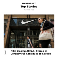 Top Stories This Week: Nike Closing All U.S. Stores as Coronavirus Continues to Spread and More