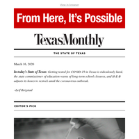 The State of Texas: Getting tested for COVID-19 in Texas is still ridiculously hard
