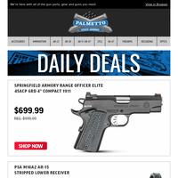 Springfield Range Officer Elite 1911 45 ACP Pistol $699.99 | PSA M16A2 Stripped Lower $49.99