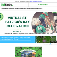 Celebrate St. Patrick's Day from home with the #VirtualStPaddysDay party tomorrow!