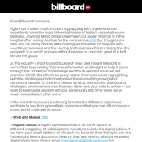 A Message from Billboard