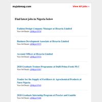 First Bank, Procter & Gamble, Nigeria LNG, Maersk, AFRH, Dufil Prima, Technoton Recruiting