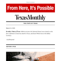 The State of Texas: Governor Abbott activates National Guard amid coronavirus outbreak