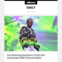 Five Burning Questions: Lil Uzi Vert Dominates With 'Eternal Atake'
