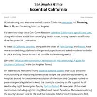 Essential California: Fighting over necessary precautions
