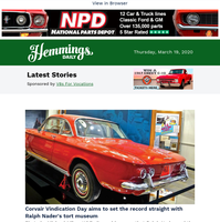 Hemmings Daily: Corvair Vindication Day aims to the set the record straight with Ralph Nader's tort museum