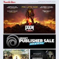 Up to 75% off Ubisoft and Capcom games this weekend + DOOM Eternal pre-loading now!