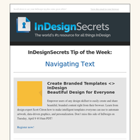 Tip of the Week: Navigating Text