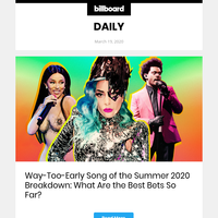 Way-Too-Early Song of the Summer 2020 Breakdown: What Are the Best Bets So Far? (id:9337760)