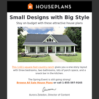 Small House Plans with Big Appeal