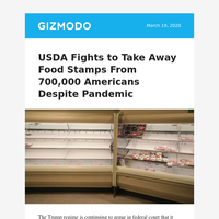USDA Fights to Take Away Food Stamps From 700,000 Americans Despite Pandemic