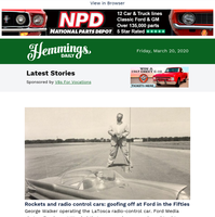 Hemmings Daily: Rockets and radio control cars: goofing off at Ford in the Fifties