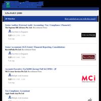 Senior Auditor [External Audit   Accounting   Tax   Compliance   Financial ] + 19 new jobs - Job Alert from JobStreet.com