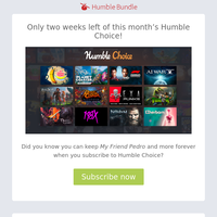 Learn more about My Friend Pedro in this month's Humble Choice Bundle!