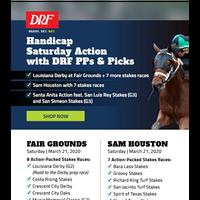 Saturday Action: Louisiana Derby, Sam Houston stakes + Santa Anita stakes