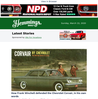 Hemmings Daily: How Frank Winchell defended the Corvair, in his own words