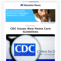 CDC Issues New Home Care Guidelines