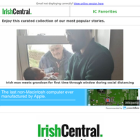 Social distancing grandfather in Ireland forced to meet new grandson through the window