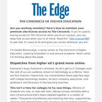 The Edge: Partners, 'vultures,' and other dispatches from higher ed's
