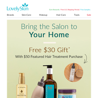Recreate Your Salon Experience in Your Own Home + Free $30 Hydrating Oil Gift!