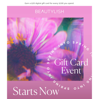 Big news: The Gift Card Event starts now!