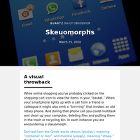 Skeuomorphs: Keeping the envelope in email