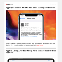 Apple Just Released iOS 13.4 with These Exciting New Features | Apple's Giving U.S. Customers Free Books & Audiobooks