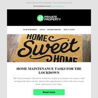 Home maintenance tasks for the lockdown