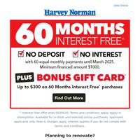 Big Bathroom Deals + 60 Months Interest Free* & Bonus* Gift Card!