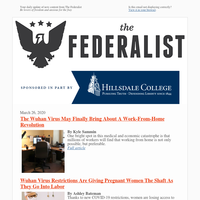 The Federalist Daily Briefing for 03/26/2020