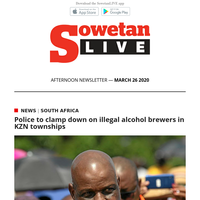 Police to clamp down on illegal alcohol brewers in KZN townships   Player contracts should be extended due to coronavirus: Fifa internal document