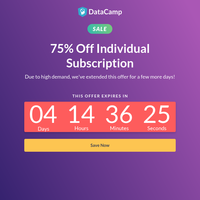 Special Offer: 75% Off